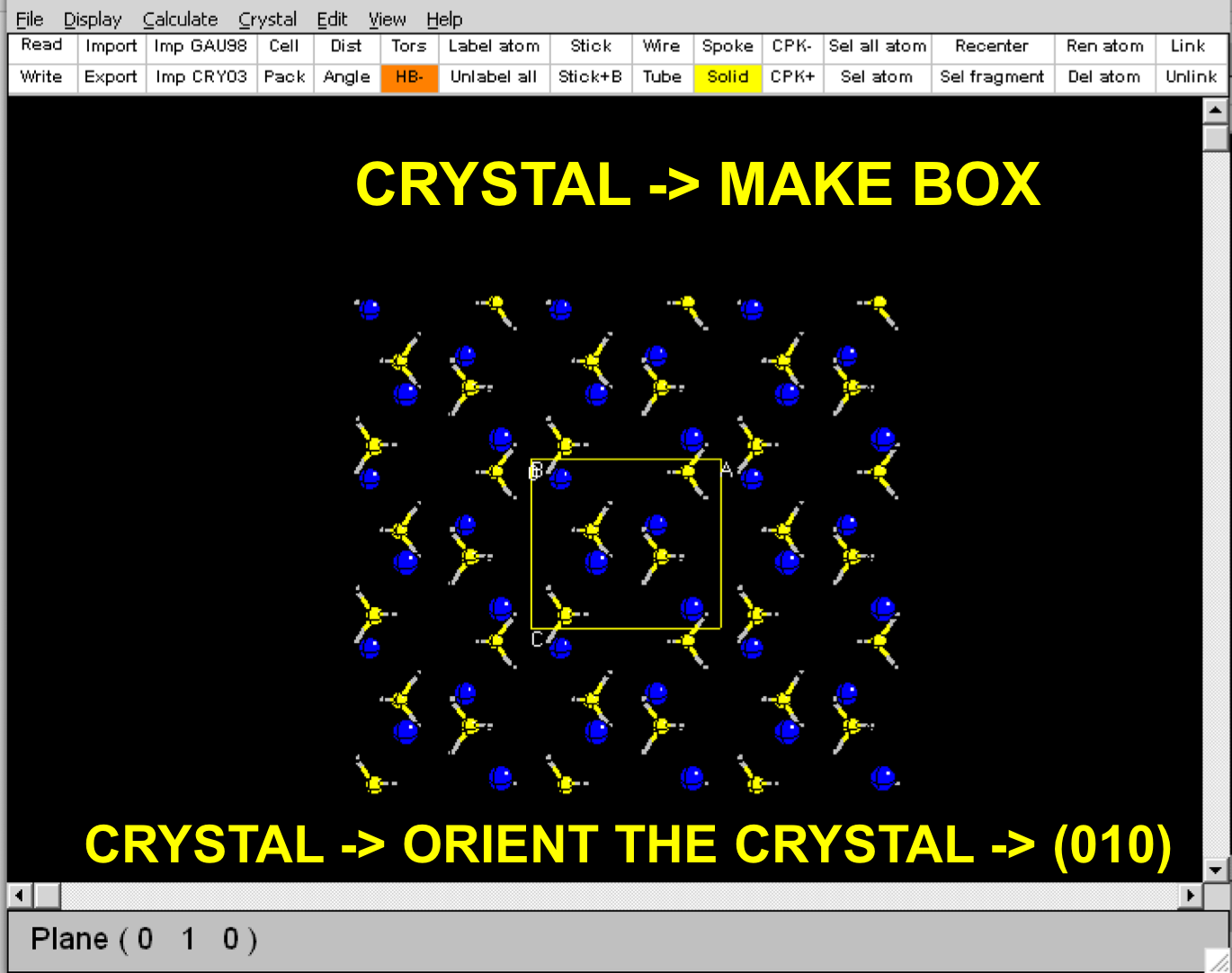 CRYSTAL TUTORIAL PROJECT